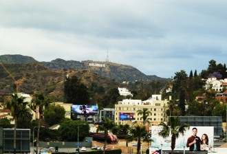 View of the Hollywood hills from Dolby Theatre