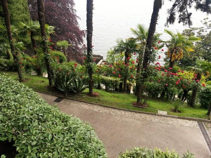 Bellagio estate garden walk flowers lake