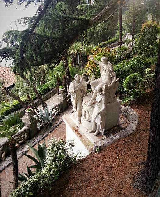 Bellagio estate garden marble statues