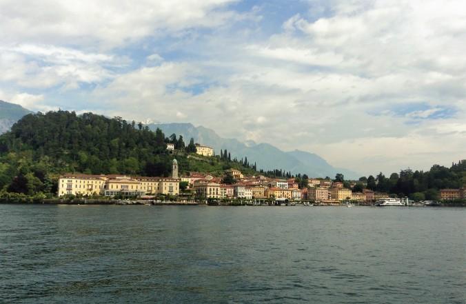 Lake Como shore Bellagio houses