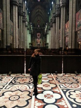 Inside Duomo di Milano Cathedral