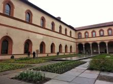 Sforza Castle inner courtyard