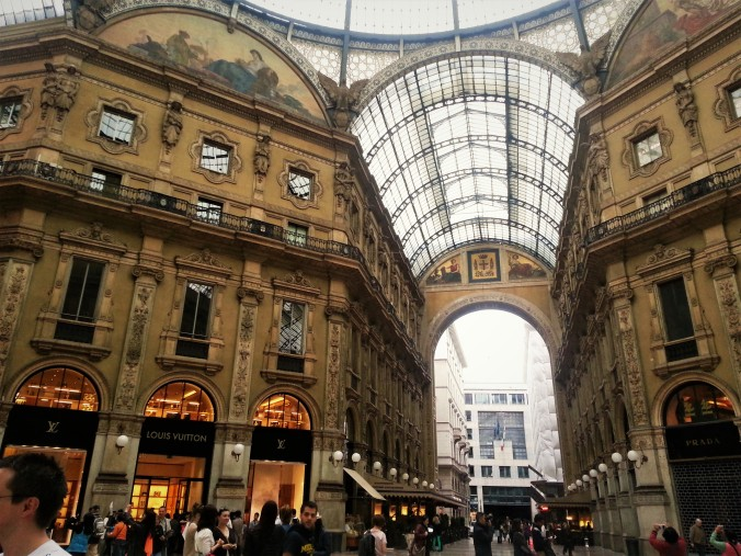 Glass-roofed shopping Gallery Vittorio Emanuele