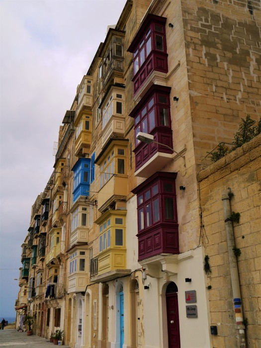 Valletta multi-coloured balconies
