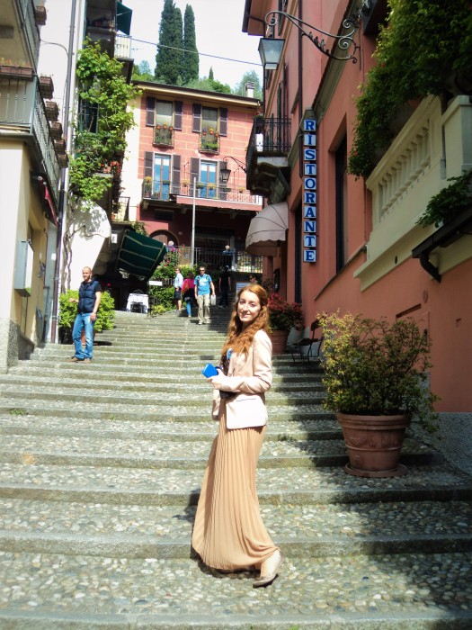 Up the hill in Bellagio steps cobbles