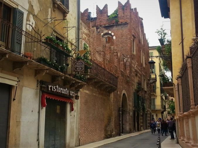 Verona street balconies