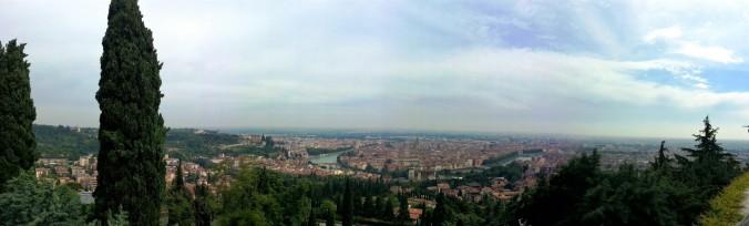 Verona panorama under cloudy sky