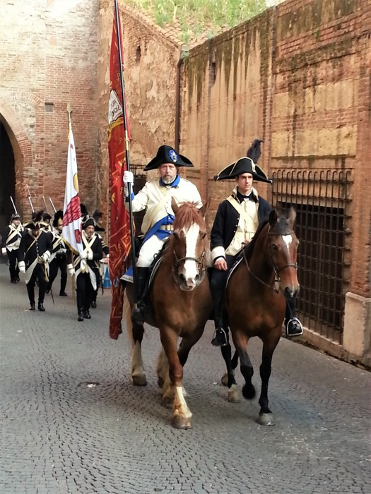 Officers parade Verona
