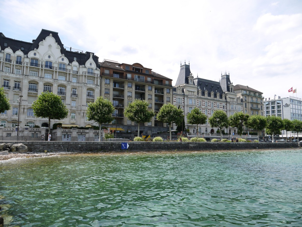 On the Lake Geneva shoreline